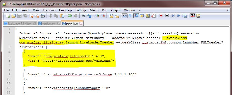 Adding LiteLoader to a FTB modpack Client (1 6 x+)