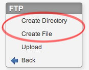 Create Directory or File