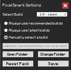 Manually Choose Build