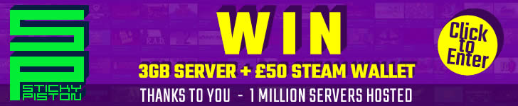 1 Million Servers Hosted Win 3GB server and £50 Steam Wallet