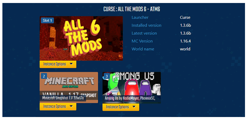 Click and Play installer, Install any Modpack, Vanilla, Spigot or Minecraft maps