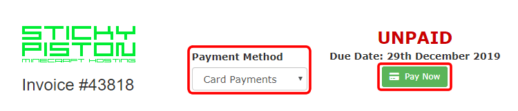 Invoice Payment Options