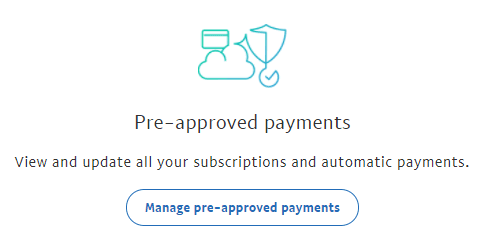 Manage pre-approved payments