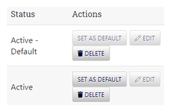 Default and Active Payment Option