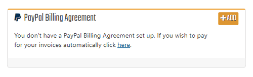 Add PayPal Billing Agreement