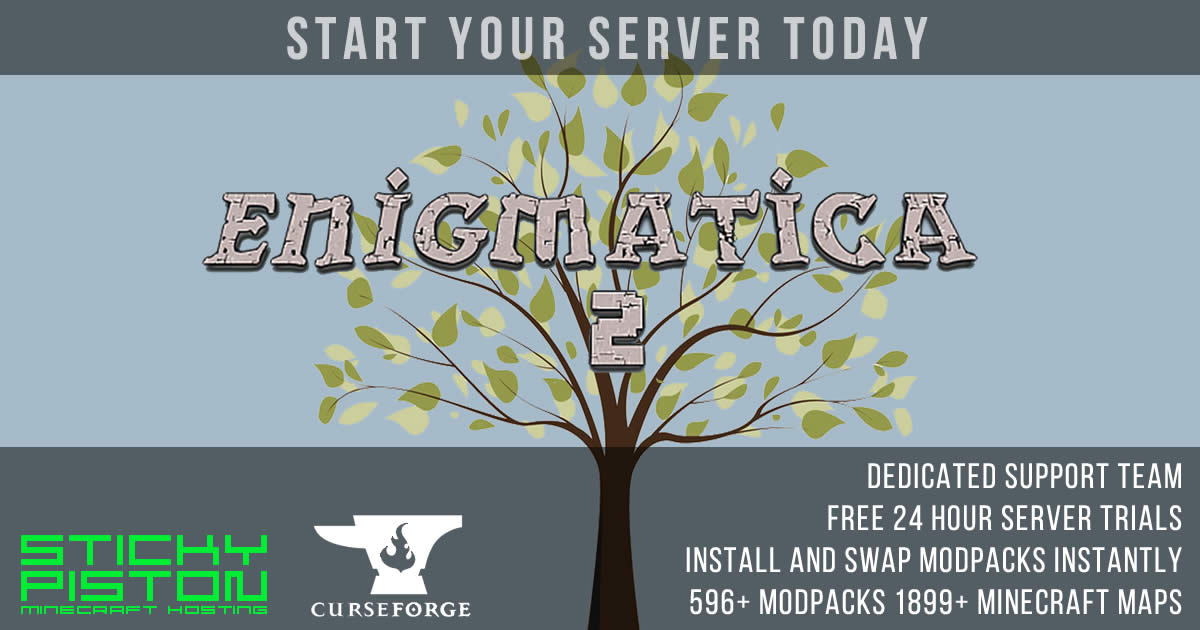Curse Enigmatica 2 Server Hosting Rental | StickyPiston
