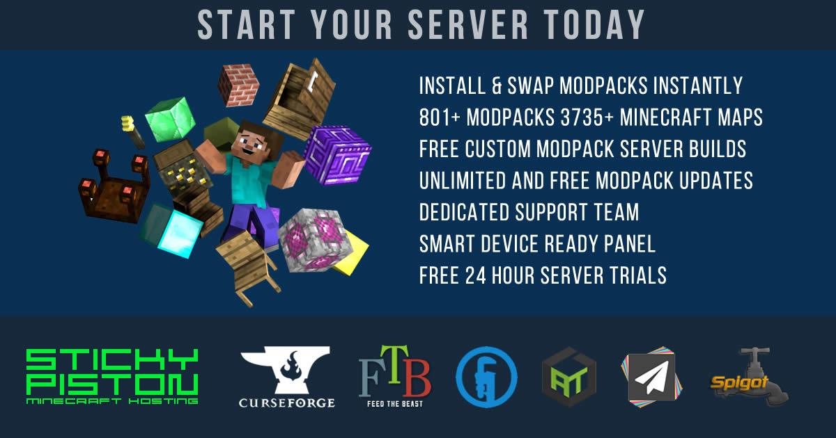 Minecraft Server Hosting Stay Crafty With Stickypiston Hosting