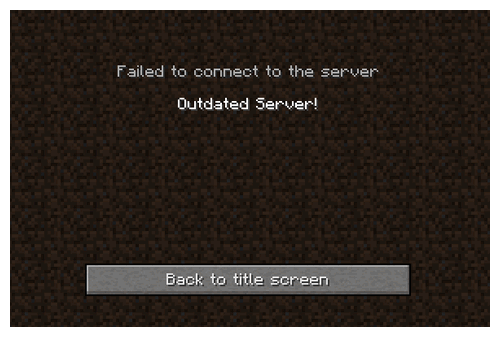 Outdated Server!