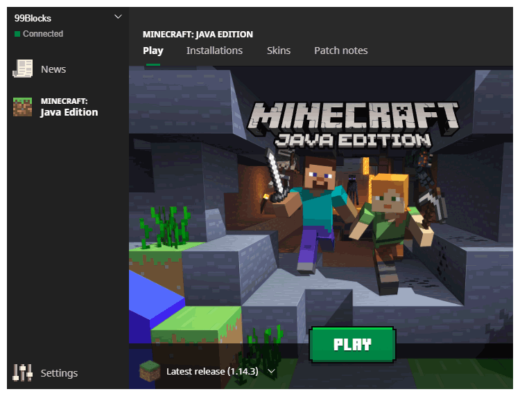 Create a Profile to connect to older Minecraft versions