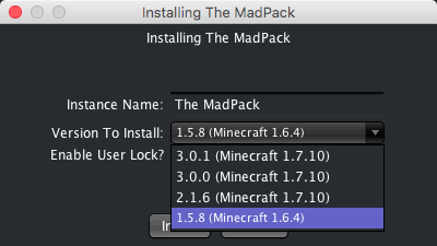 The MadPack Version