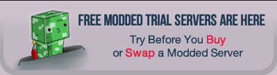 Get your free Feed the Beast server trial now (https://trial.stickypiston.co)