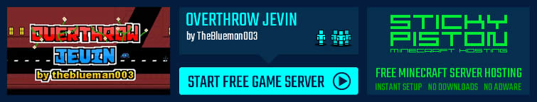 Play Overthrow Jevin on a Minecraft map game server
