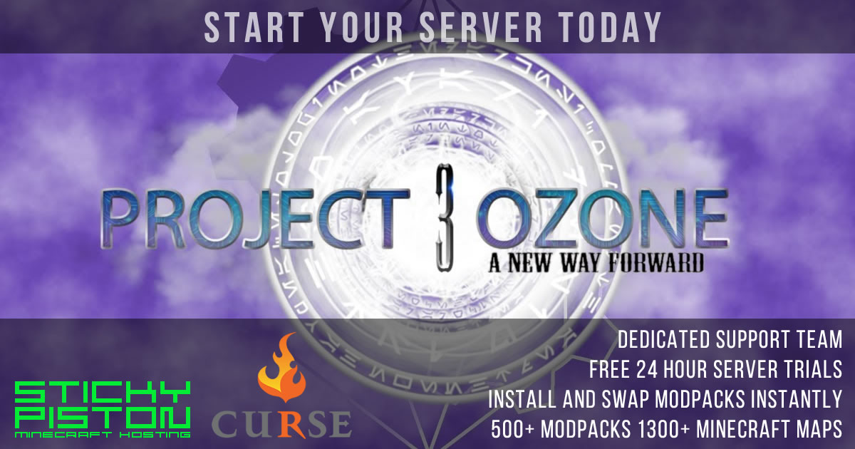 Project Ozone 3 Server Hosting Rental | StickyPiston