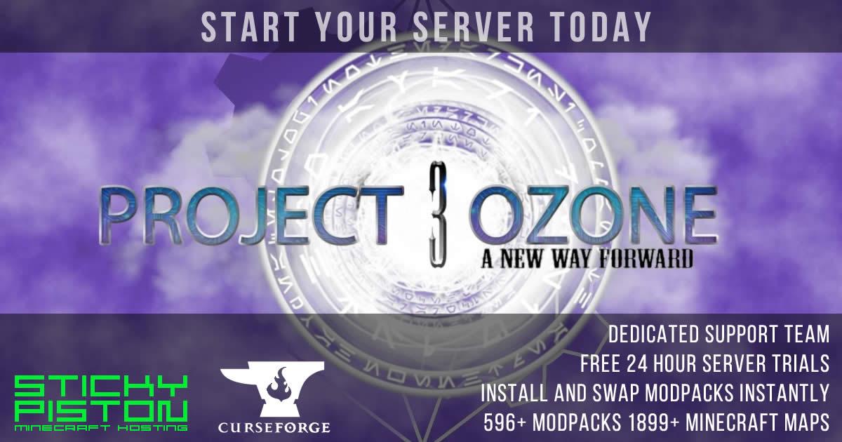 Project Ozone 3 Server Hosting Rental | StickyPiston