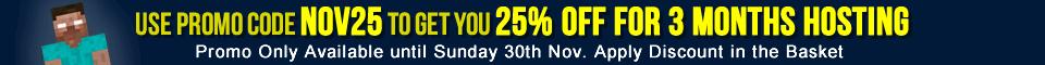 November 25% off promo