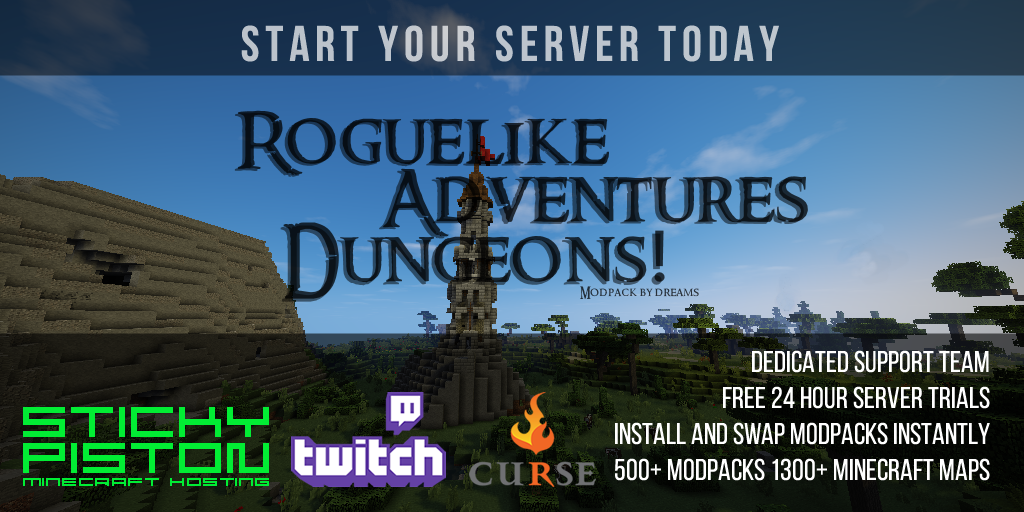 Roguelike Adventures and Dungeons Server Hosting Rental | StickyPiston