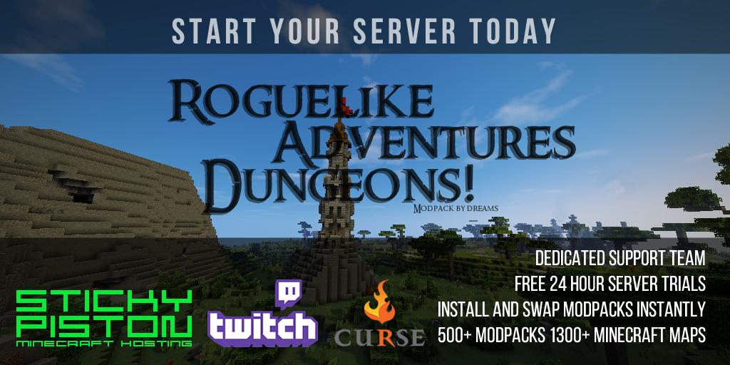 Roguelike Adventures and Dungeons Server Hosting Rental