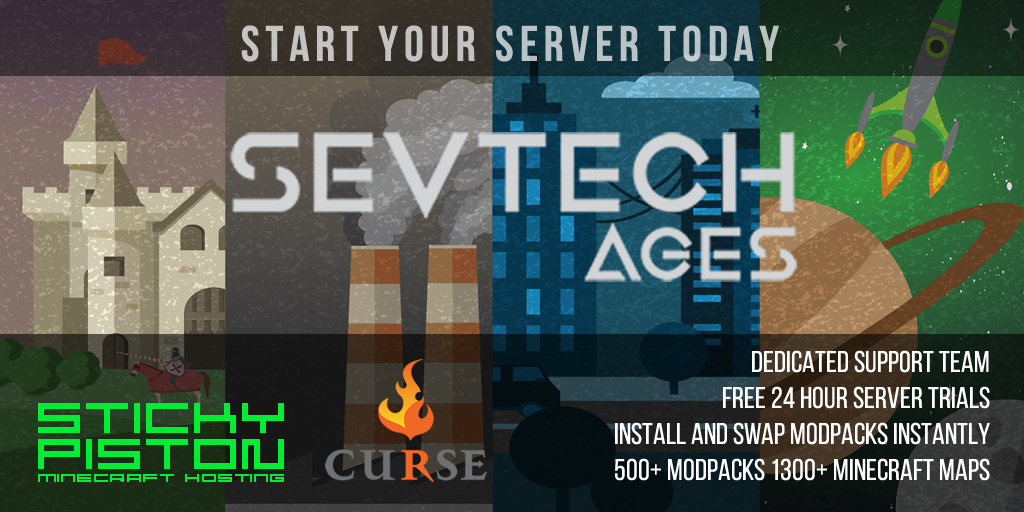 Curse : SevTech: Ages Server Hosting Rental | StickyPiston