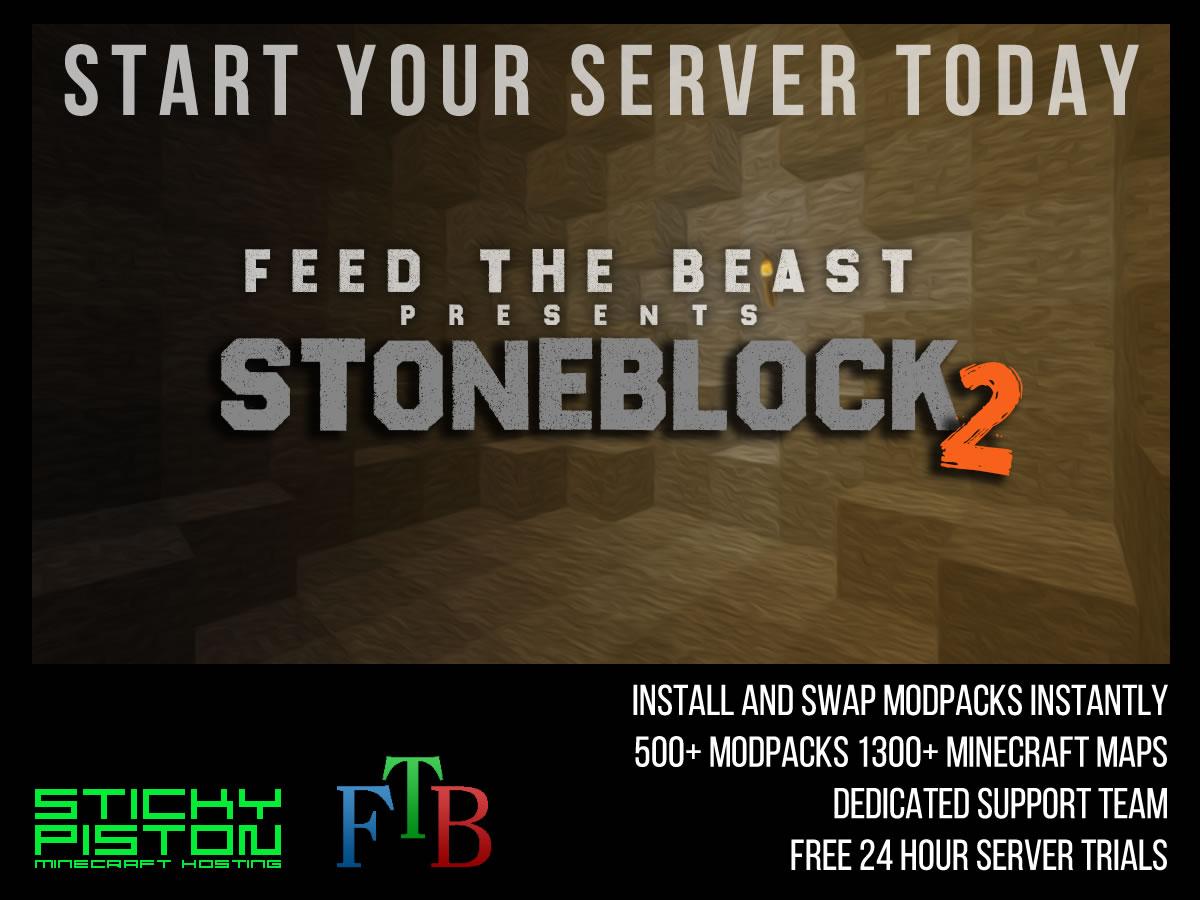 Stoneblock 2 Server Hosting by FTB | StickyPiston Hosting